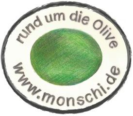 "Monschi - Preisgekröntes Natives Olivenöl Extra - ""Psaltiras'"" Logo"